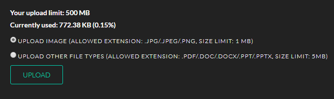 EDM System Free Upload Space