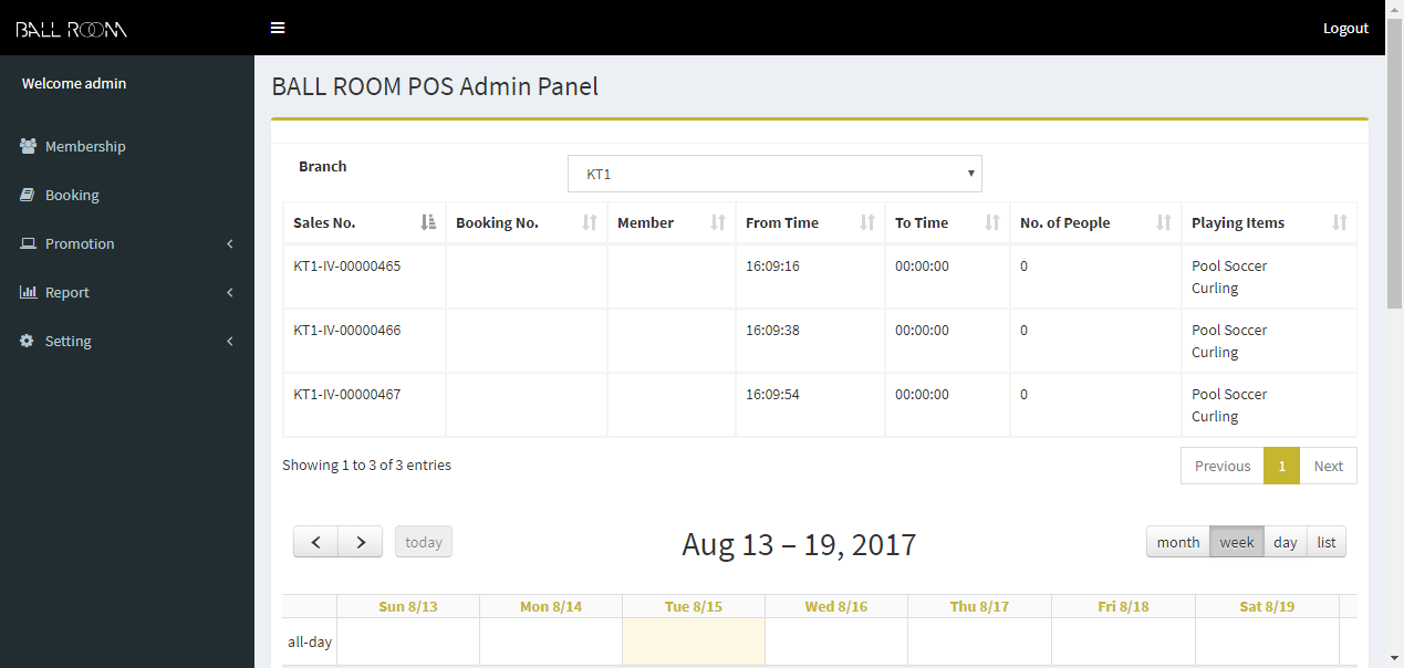 TED Concepts POS System admin panel